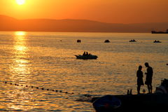 Опознавание на заходе солнца Стоковое Фото