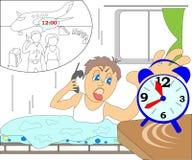 Опоздал к самолету Стоковое Фото
