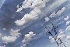 Опора и линия электропередач Стоковые Изображения