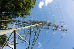 Опора линии электропередач для энергоснабжения Стоковая Фотография