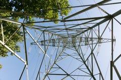 Опора линии электропередач для энергоснабжения Стоковая Фотография RF