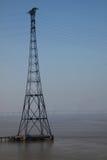 опора электричества моста severn Стоковые Фотографии RF