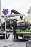 Опорожнение автомобилей стоковая фотография rf