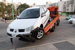 Опорожнение автомобиля после аварии Стоковая Фотография