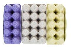 Опорожните бумажный поднос яичек изолированных на белой предпосылке Стоковая Фотография RF
