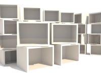 опорожните витрину Стоковые Изображения RF