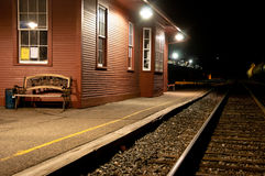 Опорожните вокзал на ноче Стоковая Фотография RF