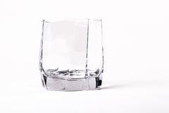 Опорожните граненное стекло Стоковое Фото