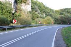 Опорожните дорогу загиба Стоковое Изображение RF
