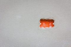 Опорожните красную коробку провода для установки выхода силы с copyspace Стоковые Изображения