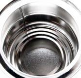 опорожните открытую излишек белизну олова Стоковое Фото