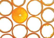 опорожните польностью разделы одного померанца Стоковая Фотография