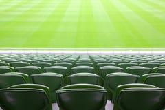 опорожните сложенный стадион мест рядков пластмассы Стоковая Фотография