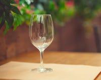 опорожните стеклянное вино Стоковые Изображения RF