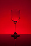 опорожните стеклянное вино Стоковые Фото