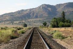 Опорожните след поезда Стоковое Изображение