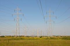 Опоры линии электропередач Стоковое Изображение