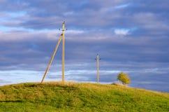 Опоры линии электропередач Стоковая Фотография