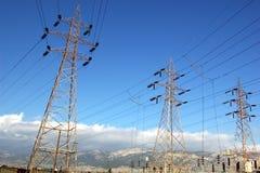 опоры электричества Стоковые Изображения