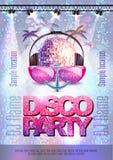 дополнительная форма диско предпосылки Плакат партии диско Стоковые Фото
