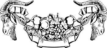 дополнительный иллюстратор формы eps самана включает сбор винограда ярлыка Стоковая Фотография