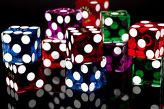 оправляет игра Las Vegas плашек Стоковое Фото