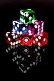 оправляет игра Las Vegas плашек Стоковые Изображения