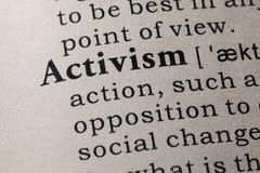 Определение активизма стоковое фото