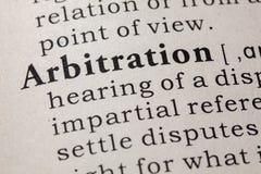 Определение арбитража стоковая фотография rf