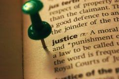 Определение правосудия Стоковые Фотографии RF