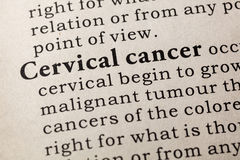 Определение рака шейки матки Стоковые Изображения