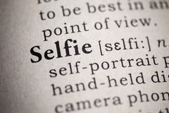 Определение selfie слова стоковое фото rf