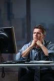 определенный концентрировать бизнесмена Стоковая Фотография