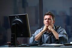 определенный концентрировать бизнесмена Стоковые Изображения