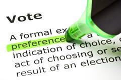 Определение голосования стоковые изображения rf