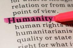 Определение гуманности Стоковая Фотография RF