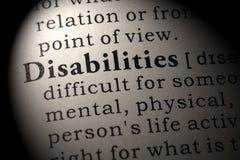 Определение инвалидности Стоковые Фотографии RF