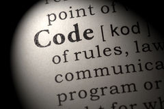 Определение кода Стоковое Изображение RF