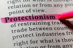 Определение протекционизма Стоковые Фотографии RF