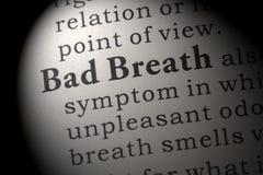 Определение плохого дыхания Стоковая Фотография RF