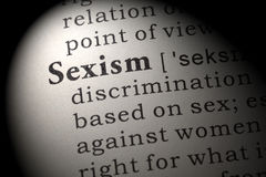 Определение сексизма Стоковое Фото