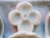 Определенная столица белого мрамора Стоковые Фотографии RF