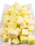 Определенный размер укусом плодоовощ росы меда в плите IV Стоковая Фотография