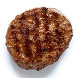 Определите зажаренный пирожок гамбургера на белизне сверху Стоковое фото RF