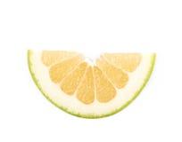 Определите изолированный кусок грейпфрута Стоковое фото RF