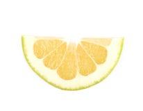 Определите изолированный кусок грейпфрута Стоковая Фотография RF