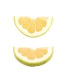 Определите изолированный кусок грейпфрута Стоковое Изображение