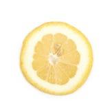 Определите кусок изолированного лимона Стоковое Изображение