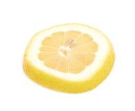 Определите кусок изолированного лимона Стоковая Фотография RF