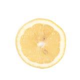 Определите кусок изолированного лимона Стоковое фото RF